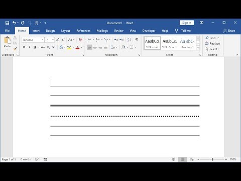 Shortcut Key To Draw Straight Lines In MS Word (Word 2003-2019)