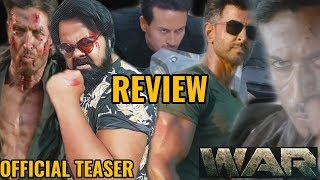 WAR TEASER | REVIEW | REACTION | HRITHIK ROSHAN | TIGER SHROFF | VAANI KAPOOR  | BAAP OF ALL ACTION