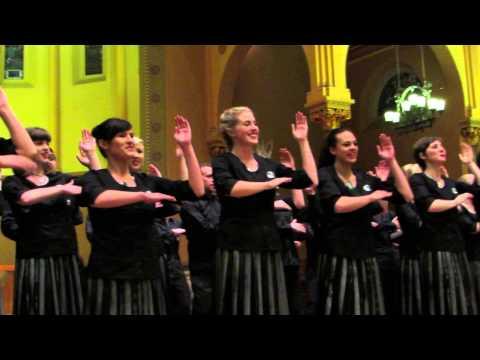 "New Zealand Youth Choir Sings ""Te Iwi E"" In Boston [HD] - December 2, 2013"