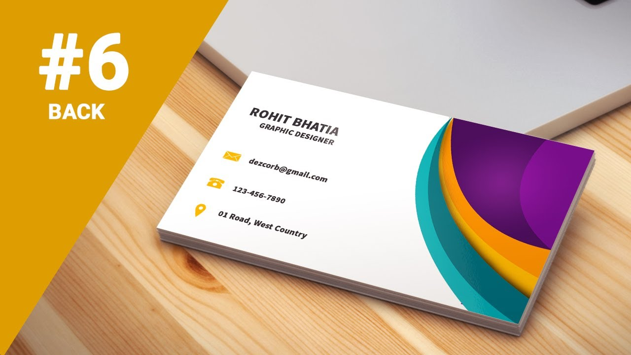 6 how to design business cards in photoshop cs6 | Colorful 3D | Back ...
