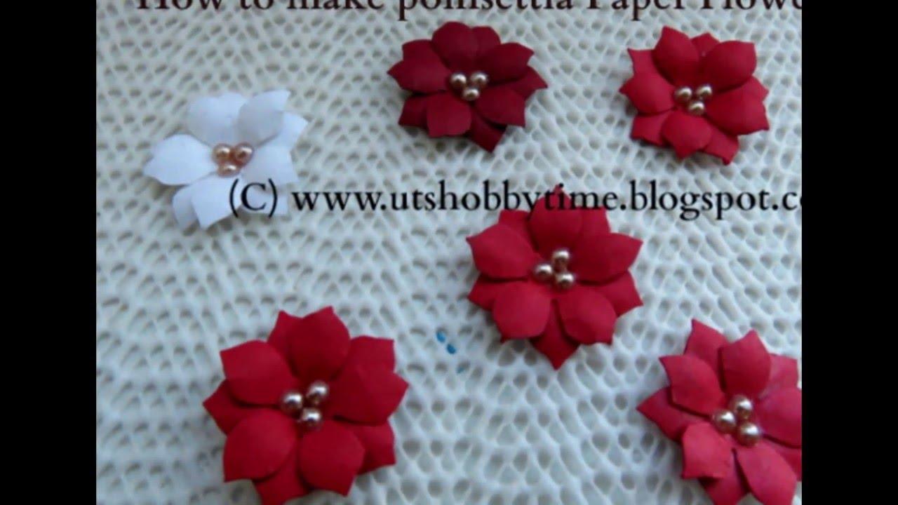 how to make poinsettia paper flower    diy paper flower