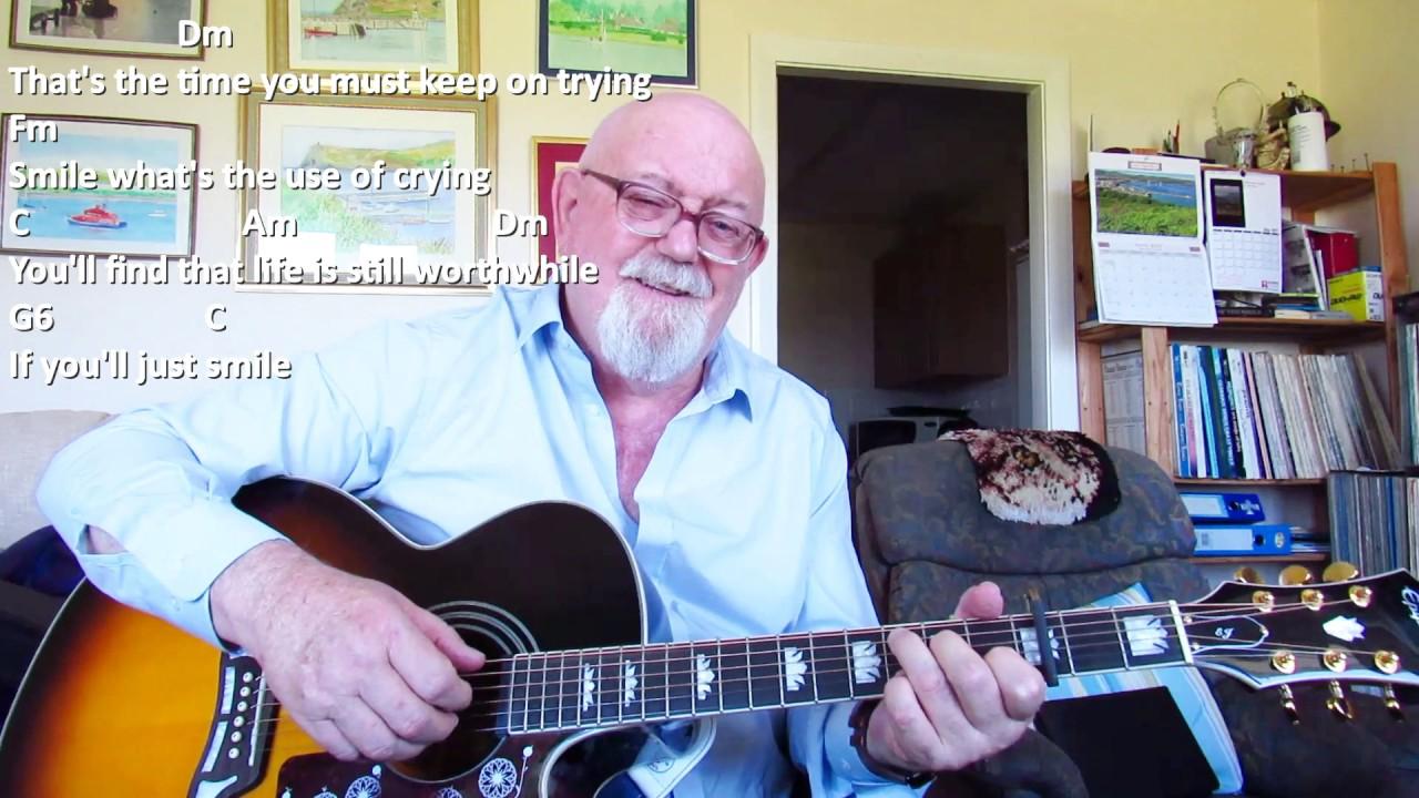 Guitar Smile Including Lyrics And Chords Youtube