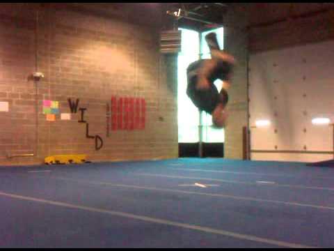 Messing around. -tumbling, gymnastics, gym