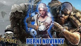 Witcher 4, AC: Ragnarok, GR: Breakpoint - Herní novinky Medojeda  & FÍly