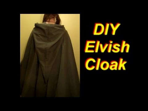 How To Make An Elven Cloak Youtube