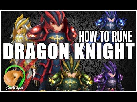 SUMMONERS WAR : How to Rune DRAGON KNIGHTS (Laika, Chow, Leo, Ragdoll, Jager)