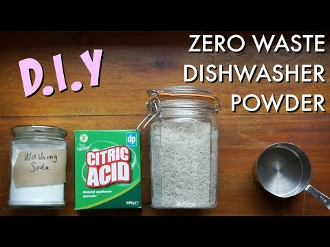DIY ZERO WASTE DISHWASHER POWDER | Kate Arnell