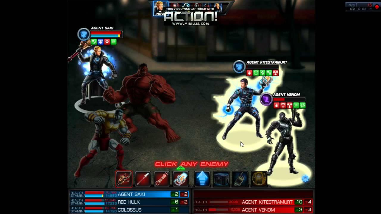 Marvel Avengers Alliance: Red Hulk & Colossus - YouTube