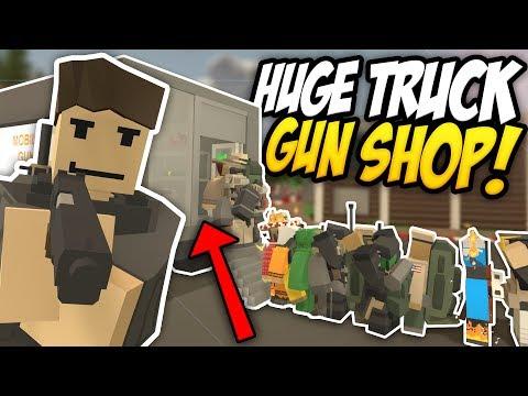HUGE TRUCK GUN SHOP - Unturned Mobile Shop | So Many Customers!