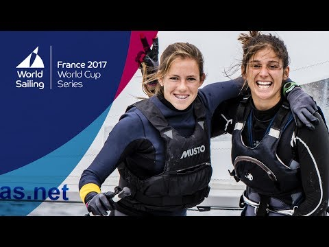 Full 470 Women's Medal Race from the World Cup Series Hyères 2017