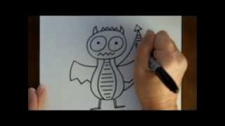 How To Draw A Cartoon Dragon Easy Step By Step With Doodleacademy