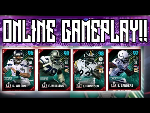 New Russell Wilson, James Harrison, Bob Sanders, Eric Winston Fully CHEMED OUT GAMEPLAY!!!! | MUT 17