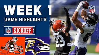 Browns vs. Ravens Week 1 Highlights | NFL 2020