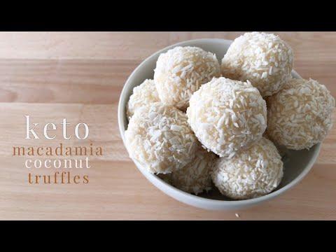 Keto Macadamia Coconut Truffles
