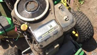John Deere LX172 14hp Kawasaki Project Part 1