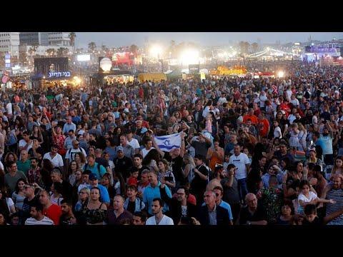 اسرائيليون يحتفلون وفلسطينيون يحتجون في الحفل الختامي لمسابقة يوروفيجن…  - نشر قبل 11 ساعة
