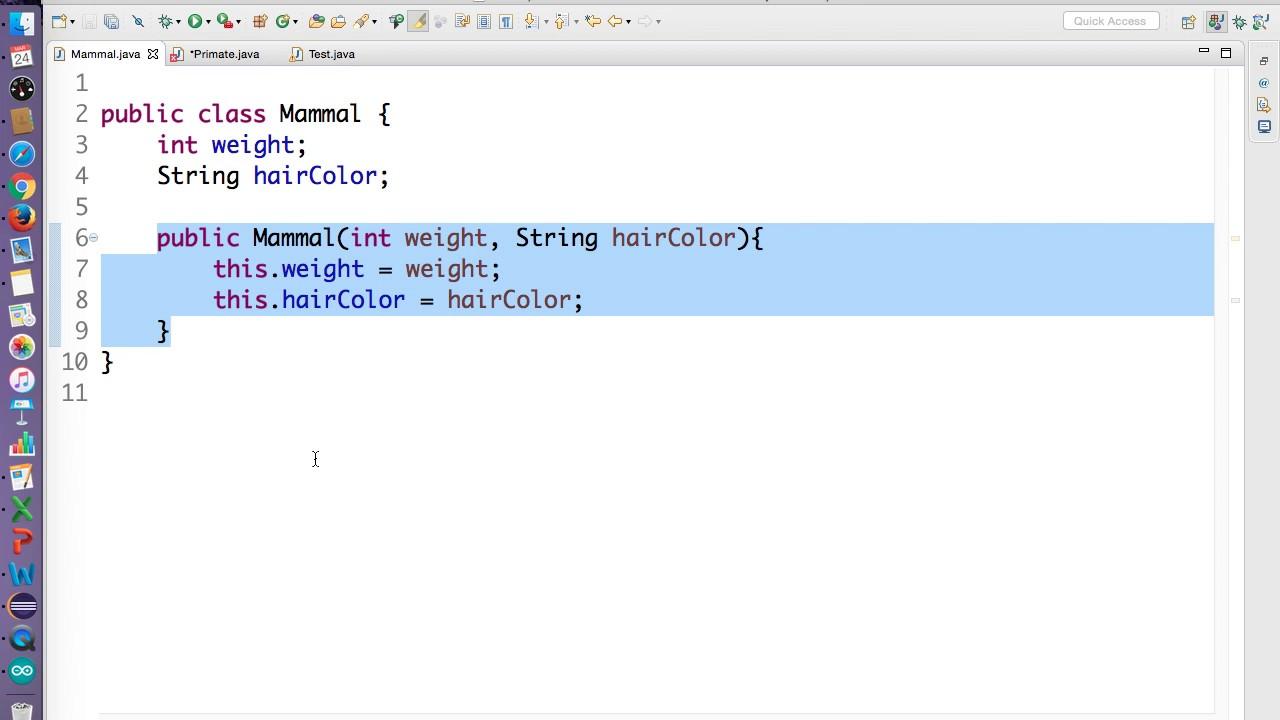 Java inheritance and constructors youtube java inheritance and constructors baditri Image collections