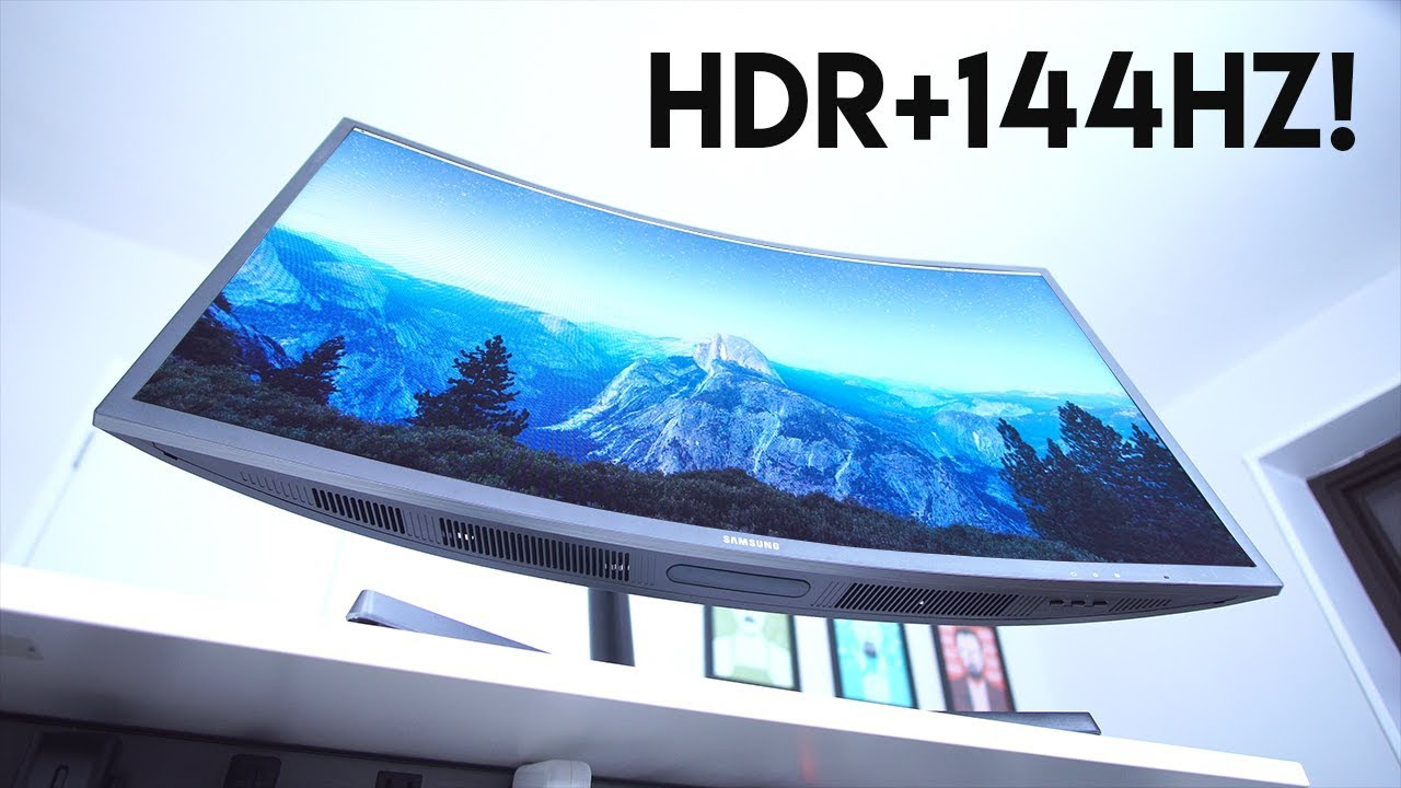Curved HDR + 144Hz Gaming Monitor?!