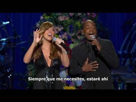 Mariah Carey - I'll be there Memorial Michael Jackson (Subtitulado español)