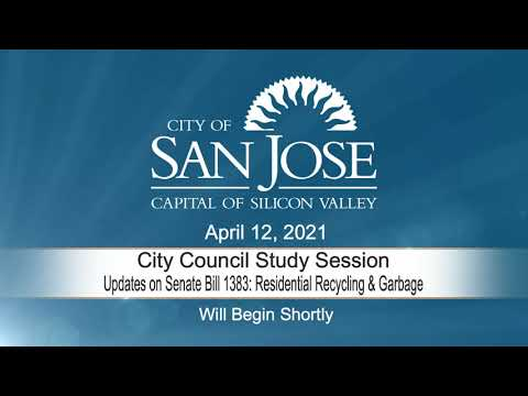 APR 12, 2021 | City Council Study Session – Senate Bill 1383: Residential Recycling & Garbage Issues