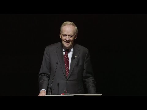 """Canada: Its own flag. Its own destiny"" — a lecture by the Right Honourable Jean Chrétien"