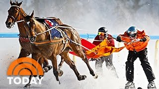 Skijoring, The Intense Sport Of Getting Pulled By A Horse | TODAY