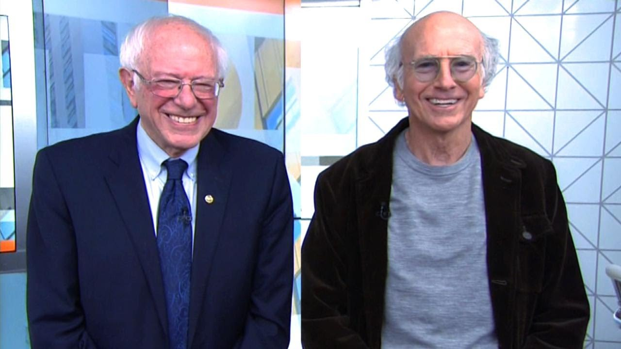 larry david and bernie sanders trade jokes on today show