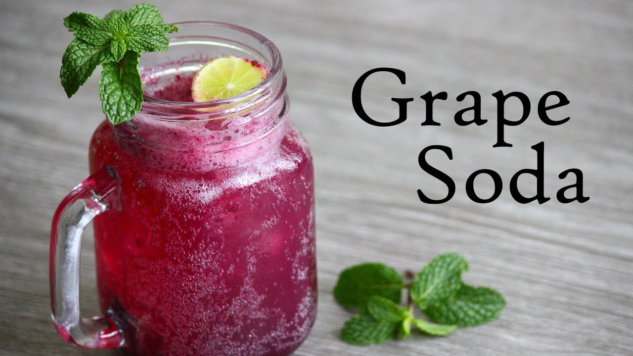 Grape Soda Recipe Refreshing Summer Drink Youtube