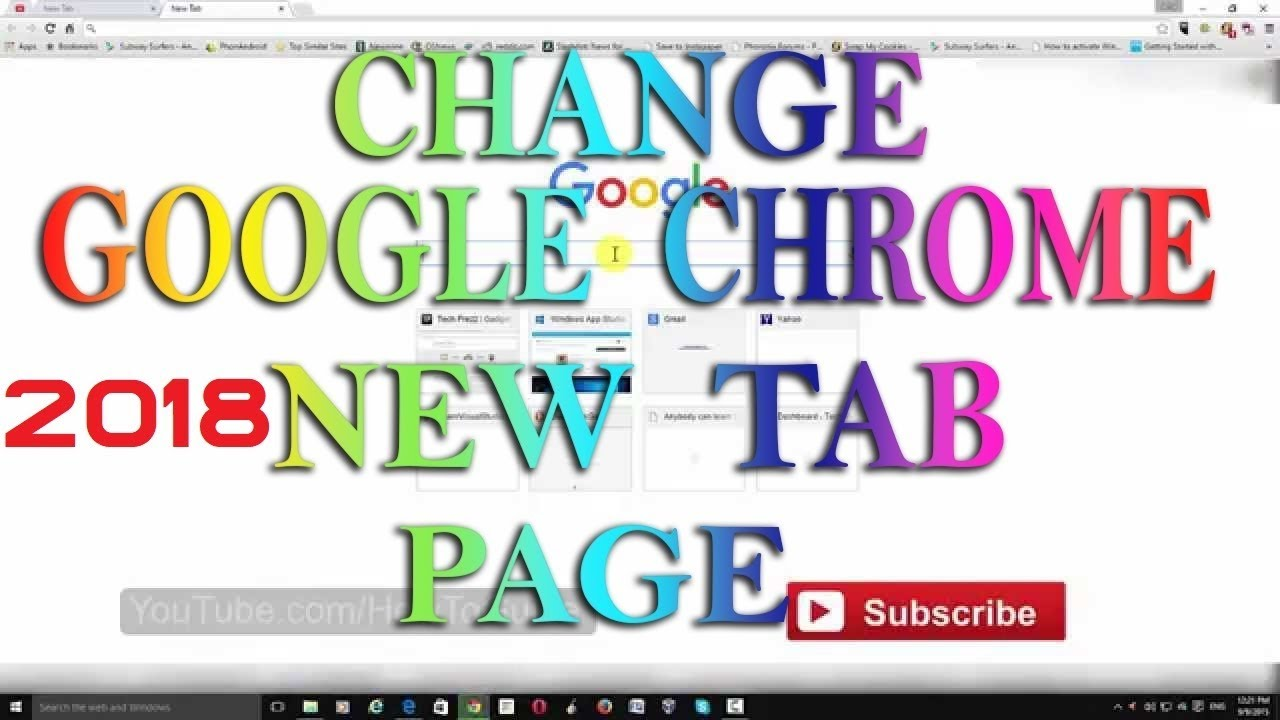 Google Chrome - Change/Customize New Tab Page With These Productive  Extensions