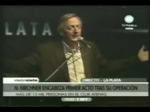 24 Feb 2010 Néstor Kirchner en el Club Atenas en La Plata