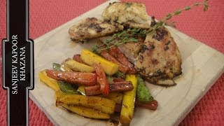 Grilled Chicken With Marinated Vegetables  | Sanjeev Kapoor Khazana