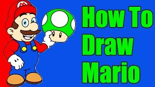 How To Draw Mario Step By Step Slow