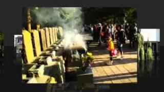 会津若松の観光名所、飯盛山。白虎隊の隊士が眠る墓には今も献花が絶え...