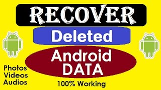How To Recover Deleted Files On Android in 1 Minute.  {HINDI}