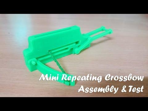 [น.การประดิษฐ์] Mini Repeating Crossbow : Assembly & Test