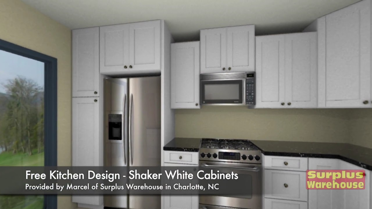 Virtual 3D Shaker White Kitchen Cabinet Design By Marcel Charlotte NC