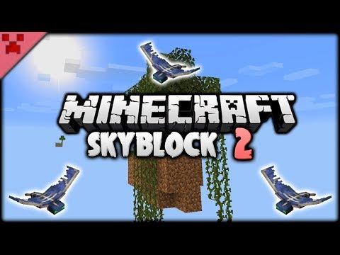 Fierce Phantoms! Swamp Island!   SkyBlock (Minecraft Survival Let's Play)   Episode 2