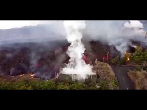 ज्वालामुखी विस्फोट के तबाही अब भी जारी है