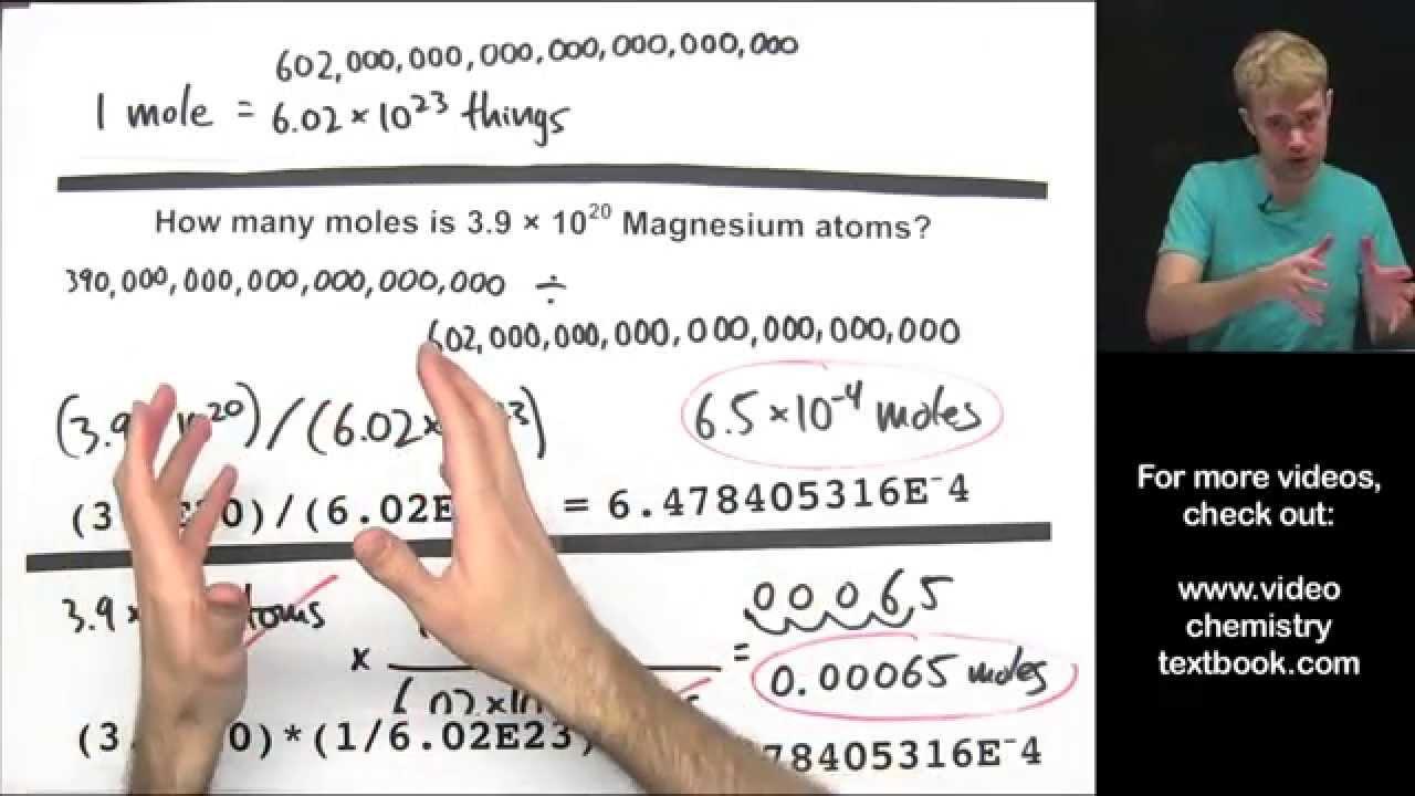 Mole, Avogadro Constant & Molar Mass (solutions, examples