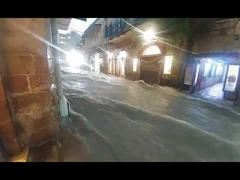 יום אחד של גשם ותראו מה קרה | נהר באמצע ירושלים | מטורףףףף