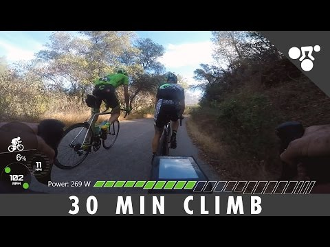 FULL 30 min climb with Levi Leipheimer (cycling trainer video)