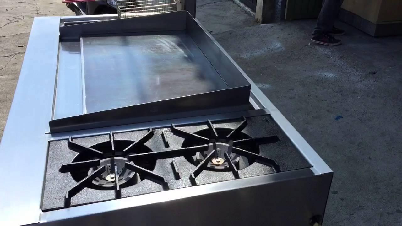 Estufa en acero inoxidable plancha horno quemadores youtube for Estufa whirlpool acero inoxidable