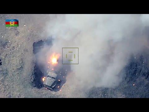 Azerbaycan Ordusu Gence'nin İntikamını Sahada Alıyor! Ermenistan Zırhlıları Böyle İmha Edildi!