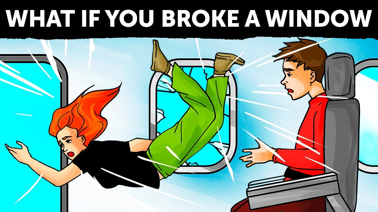 E se alguém quebrou uma janela de avião + vídeo