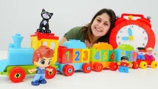 Oyuncak kreşi - Lego'dan tren yapalım. Eğitici .