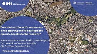 Local councils' involvement in the planning of infills generates benefits to the residents