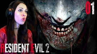 RESIDENT EVIL 2 Remake Walkthrough Part 1 - MAKE UP DOES WONDERS