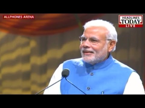 Narendra Modi's speech in Allphones Arena, Sydney  - Part 1