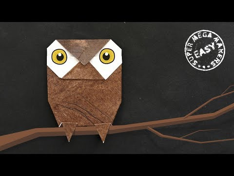 ORIGAMI OWL. How to Make a Cute Owl from Paper. Step by Step Instruction