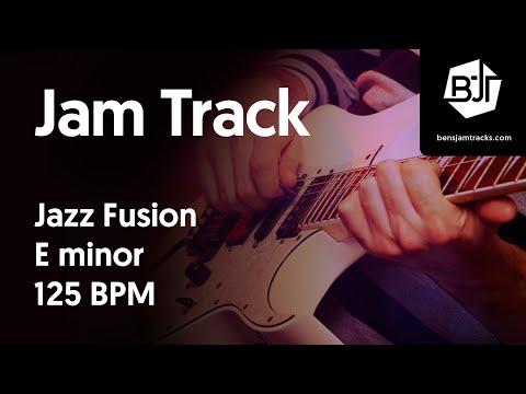 Jazz Fusion Jam Track in E minor 125 BPM